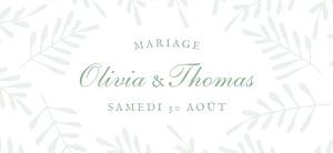 Etiquette de mariage Mille fougères vert