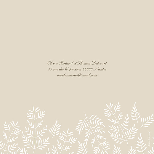 Faire-part de mariage Mille fougères (4 pages) beige - Page 4
