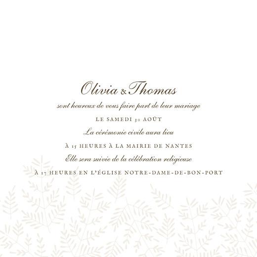 Faire-part de mariage Mille fougères (4 pages) beige - Page 3