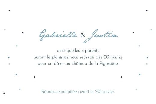 Carton d'invitation mariage Nuit d'été (dorure) bleu - Page 2
