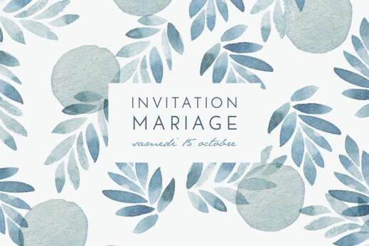 Carton d'invitation mariage Nuit d'été (dorure) bleu