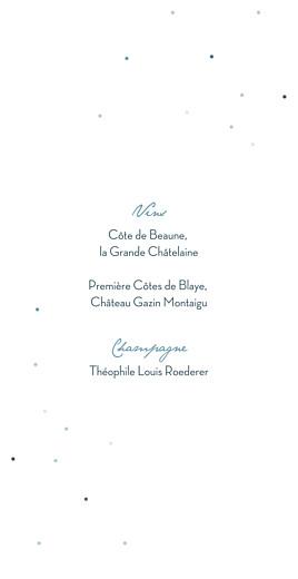Menu de mariage Nuit d'été (dorure) bleu - Page 2