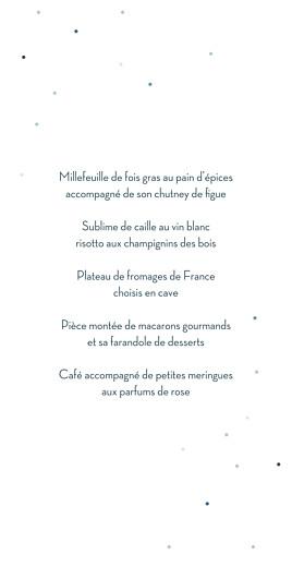 Menu de mariage Nuit d'été (dorure) bleu - Page 3