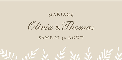 Marque-place mariage Mille fougères beige - Page 4