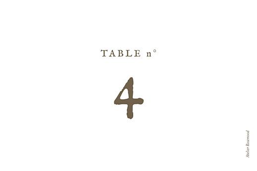Marque-table mariage Mille fougères beige