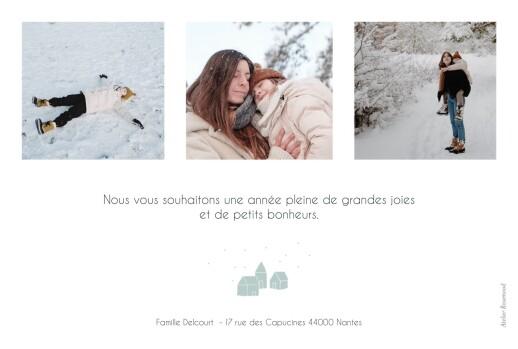 Carte de voeux Mon petit refuge 3 photos bleu - Page 2