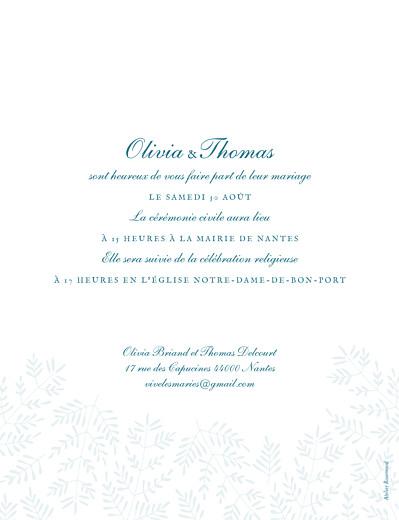 Faire-part de mariage Mille fougères bleu - Page 2