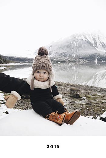 Carte de voeux Chic 1 photo blanc
