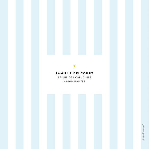 Faire-part de naissance Rayures pastel 4 pages vert - Page 4