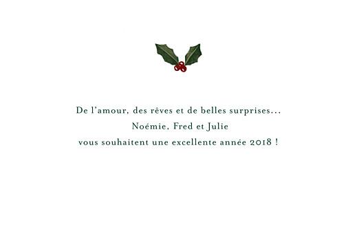Carte de voeux Noël rétro bleu & vert