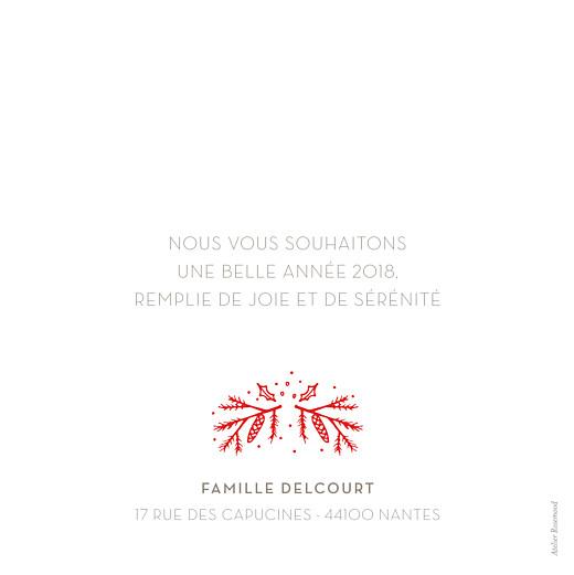 Carte de voeux Bouquet d'hiver (dorure) blanc