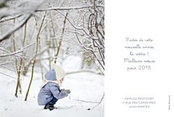 Carte de voeux Noël au chaud photo bleu