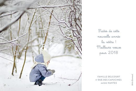 Carte de voeux Noël au chaud photo bleu - Page 2