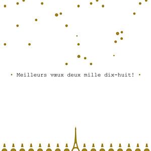 Carte de voeux Paris doré