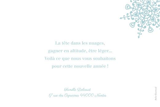 Carte de voeux Flocon bleu - Page 2