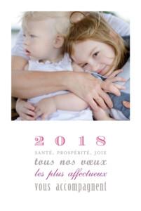 Carte de voeux Le plus beau jour (4 photos) blanc