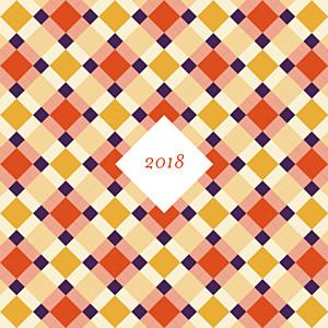Carte de voeux violet paddington orange violet