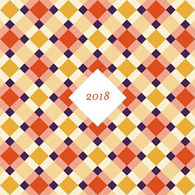 Carte de voeux Paddington orange violet finition