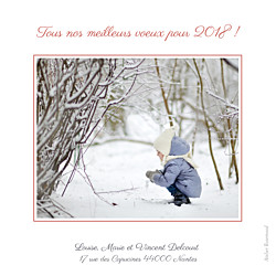 Carte de voeux Couronne de noël photo rouge