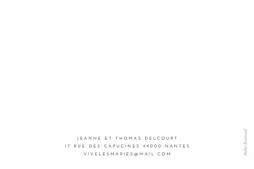 Carte de correspondance Merci blanc - Page 2