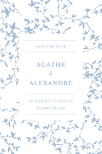 Save the Date Reflets dans l'eau bleu