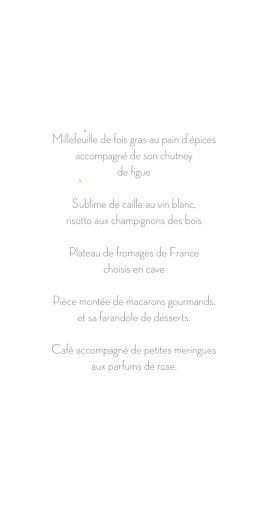 Menu de mariage Les mariés (4 pages) rose - Page 3