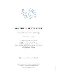 Faire-part de mariage Reflets dans l'eau portrait bleu