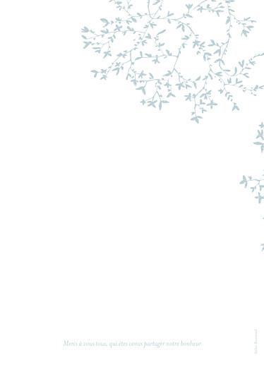 Livret de messe mariage Reflets dans l'eau vert