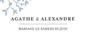 Marque-place mariage Reflets dans l'eau bleu