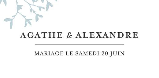 Marque-place mariage Reflets dans l'eau vert - Page 4