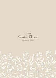 Livret de messe mariage classique mille fougères beige