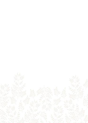 Livret de messe mariage Mille fougères beige