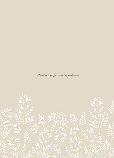 Livret de messe mariage Mille fougères beige - Page 4