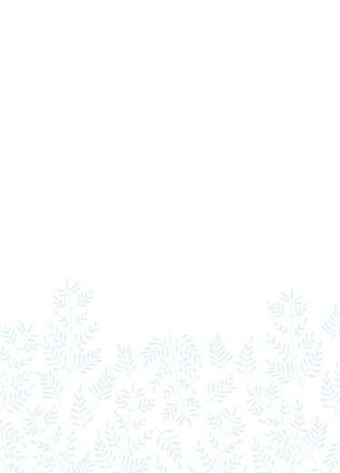 Livret de messe mariage Mille fougères bleu - Page 2