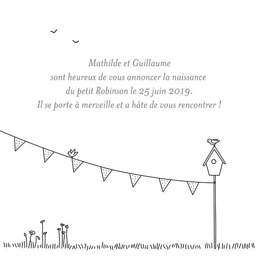 Faire-part de naissance Promesse champêtre triptyque blanc - Page 2