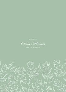 Livret de messe mariage Mille fougères vert