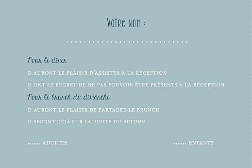 Carton réponse mariage Bouquet sauvage bleu - Page 2