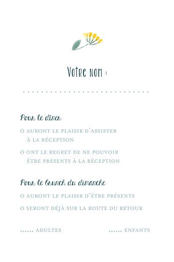 Carton réponse mariage Bouquet sauvage (portrait) jaune - Page 2