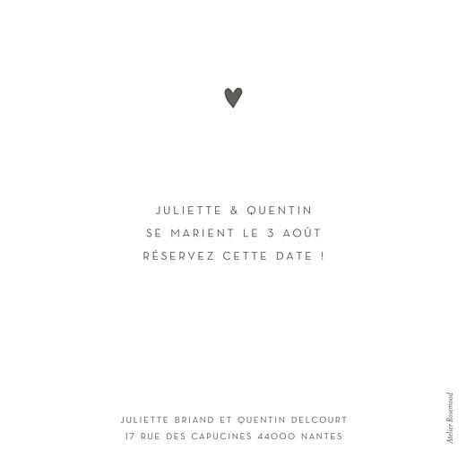 Save the Date Élégant cœur (dorure) blanc - Page 2