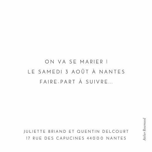 Save the Date Petit élégant cœur (dorure) blanc - Page 2