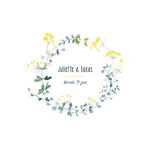Faire-part de mariage Bouquet sauvage jaune