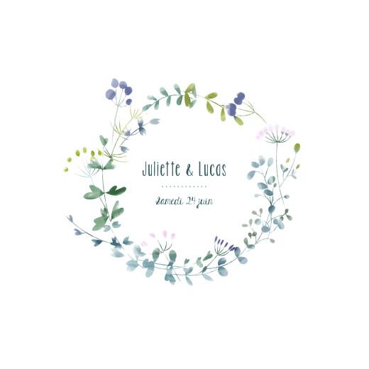 Faire-part de mariage Bouquet sauvage bleu