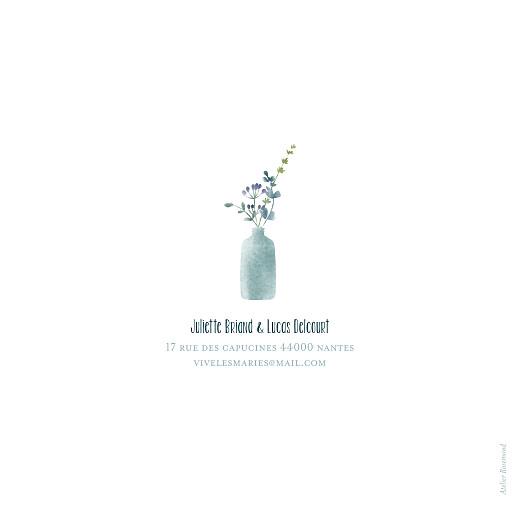 Faire-part de mariage Bouquet sauvage bleu - Page 4