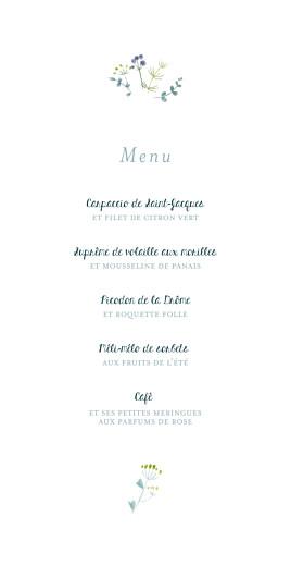 Menu de mariage Bouquet sauvage rose - Page 3