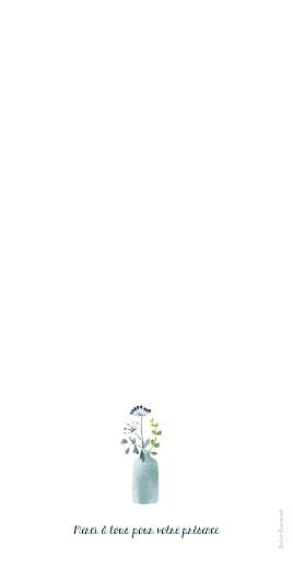 Menu de mariage Bouquet sauvage bleu - Page 4