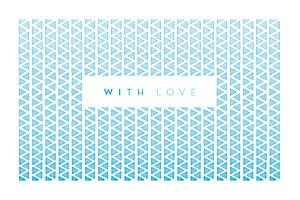 Carte de correspondance Azur bleu