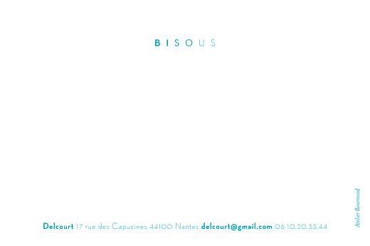 Carte de correspondance Azur bleu - Page 2