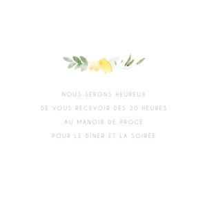 Carton d'invitation mariage Jardin anglais vert