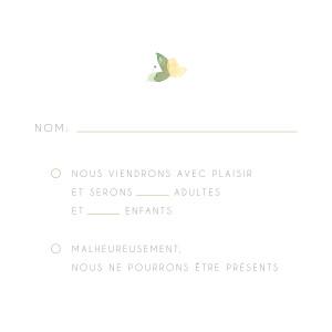 Carton réponse mariage Jardin anglais vert