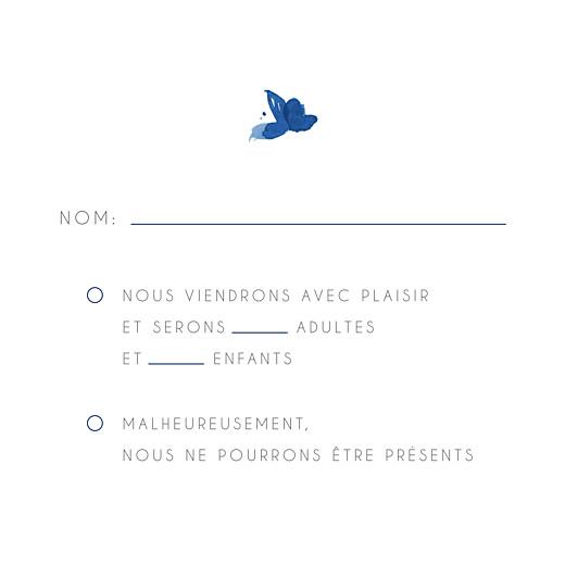 Carton réponse mariage Jardin anglais bleu